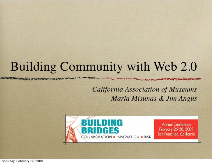 Building Community with Web 2.0 Tools