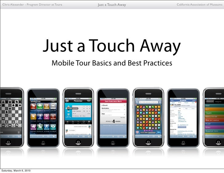 CAM - Mobile Tour Basics and Best Practices