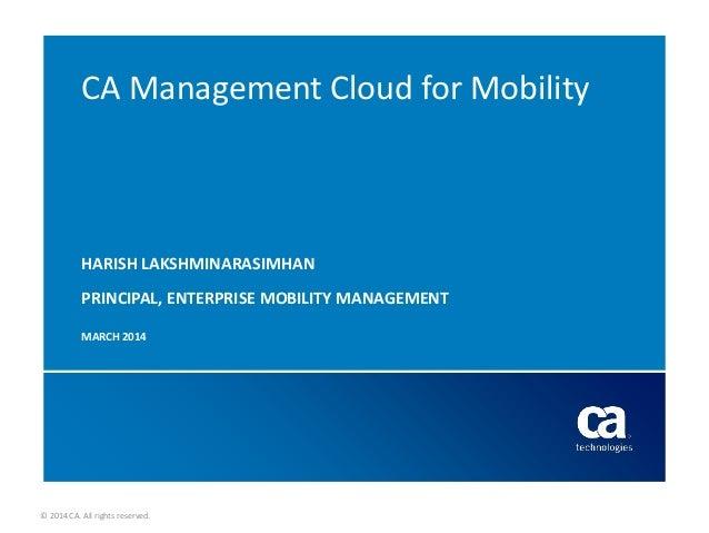 CA Management Cloud - Enterprise Mobility
