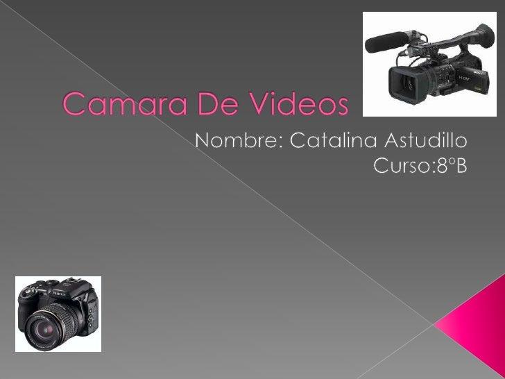    Las primeras cámaras de video, propiamente dichas, utilizaron tubos electrónicos como    captadores: un tipo de válvul...