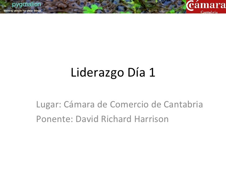pygmaliontraining people for great things                                       Liderazgo Día 1                     ...