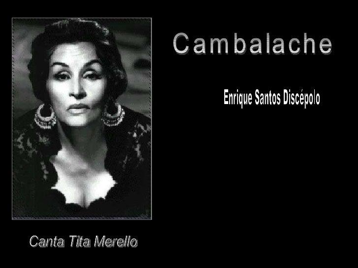 Cambalache Enrique Santos Discépolo Canta Tita Merello