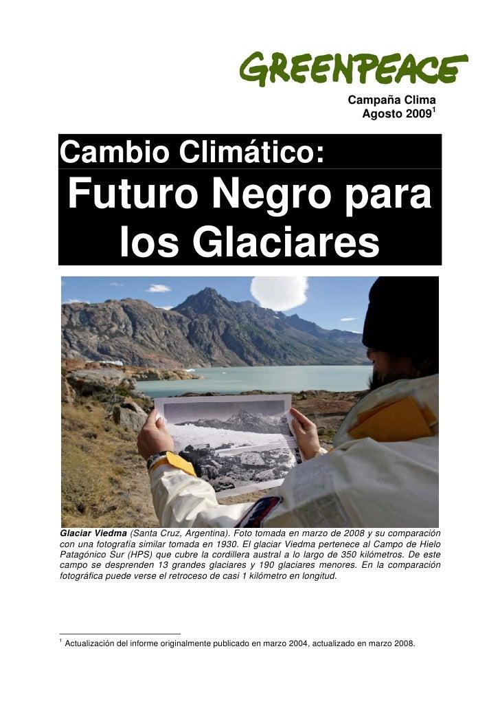 Campaña Clima                                                                                Agosto 20091   Cambio Climáti...