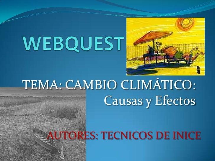 Cambio climático WEBQUEST