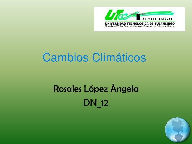 Cambios Climáticos<br />Rosales López Ángela<br />DN_12   <br />