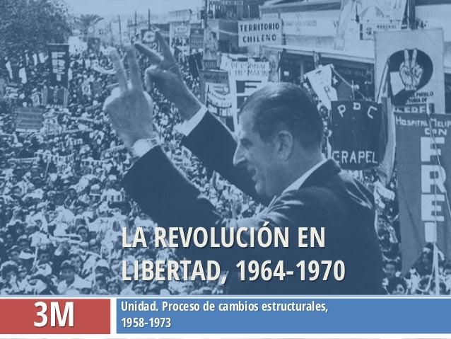 Unidad. Proceso de cambios estructurales,  1958-1973  LA REVOLUCIÓN EN LIBERTAD, 1964-1970  3M