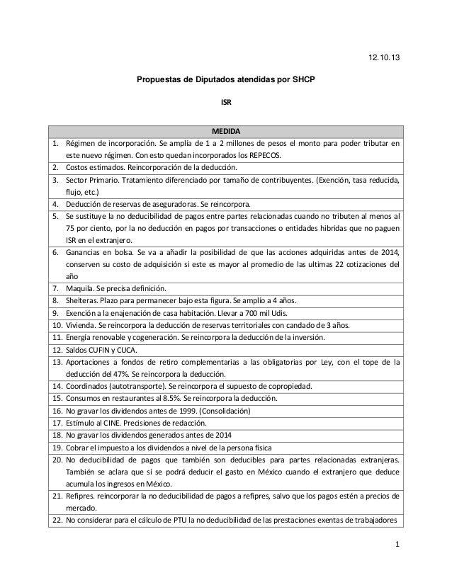 Cambios propuestos al  ISR dentro de Miscelánea Fiscal