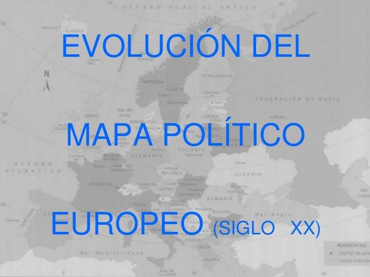Cambios mapa de europa