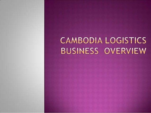 Cambodia logistics Overview