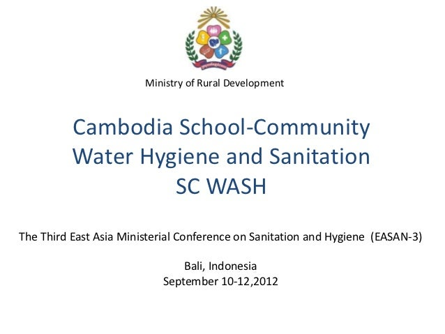 Cambodia School-Community Water Hygiene and Sanitation