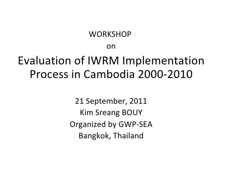 IWRM Evaluation Result in Cambodia