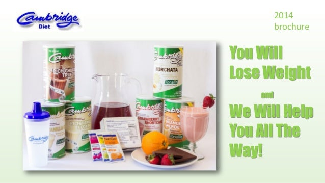 2014 brochure  You Will Lose Weight and  We Will Help You All The Way!