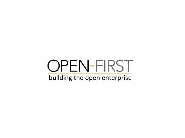 building the open enterprise<br />