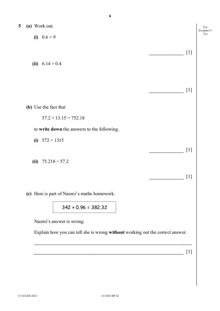 maths paper unit 1 higher nov10