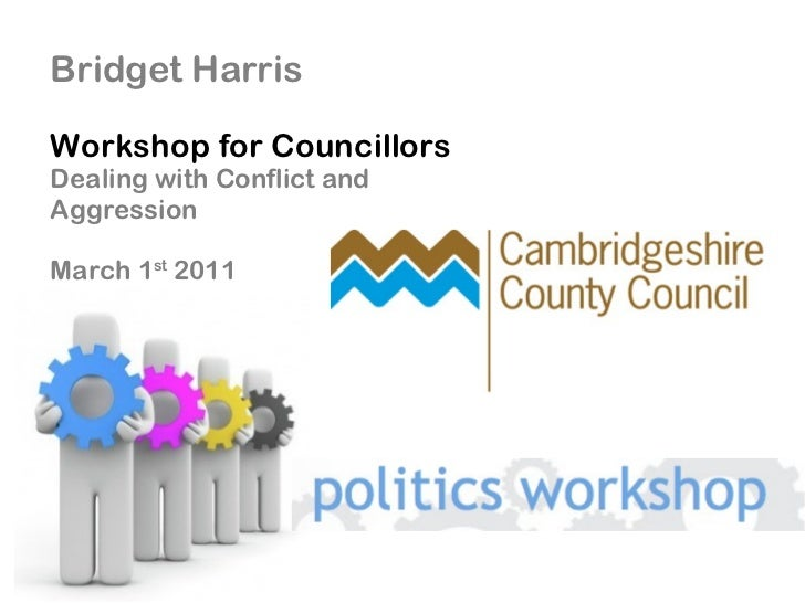 Managing Conflict and Aggression, workshop for councillors