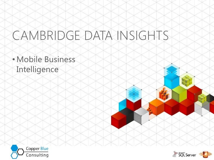 Cambridge data insights mobile business intelligence