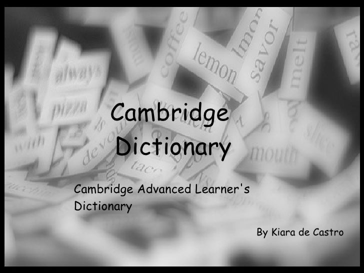 Cambridge dictionary ppt