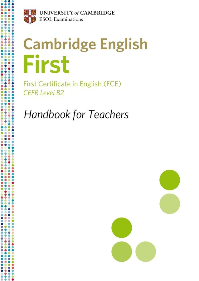 Cambridge english first__fce__handbook