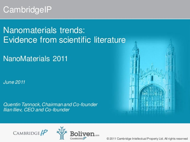 CambridgeIP Nanomaterials Trends