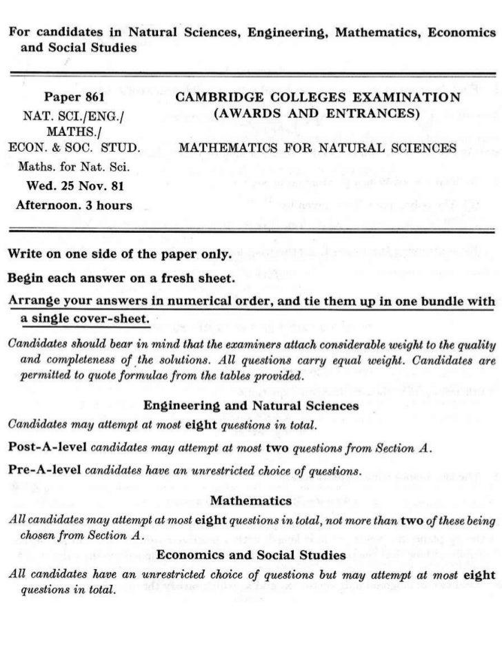 Cambridge maths nat_sci