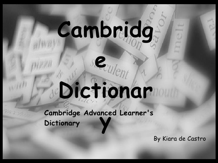 Cambridge ppt
