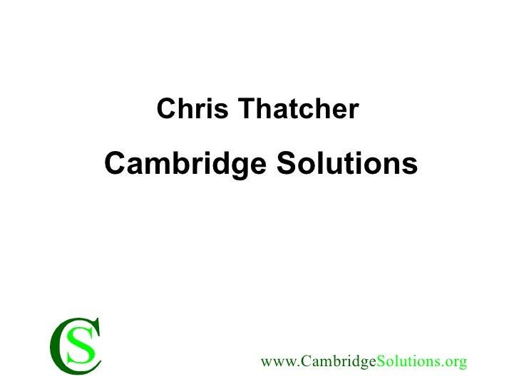 Chris Thatcher Cambridge Solutions