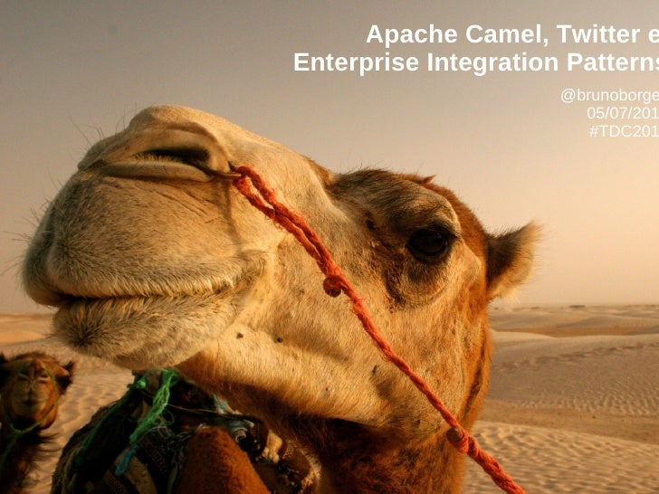 Apache Camel, Twitter eEnterprise Integration Patterns                      @brunoborge                        05/07/201  ...