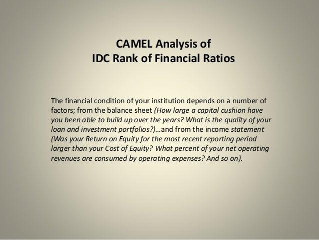 camel analysis Camel ratio analysisa comparative study of 3 banks saurabh thadani srikanth  konduri tushar gupta vikram r 10fn-102 10fn-109 10fn.