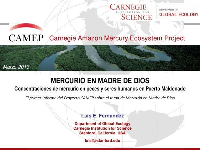 Camep power point   estudio puerto maldonado - espanol