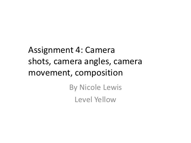 Camera Shots, Angles, Composition and