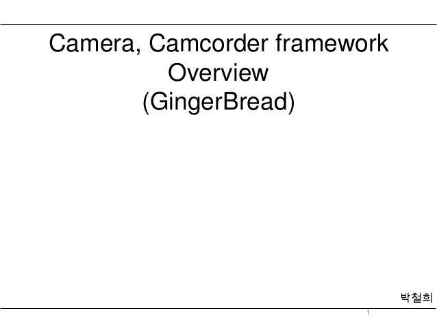 Camera camcorder framework overview(ginger bread)