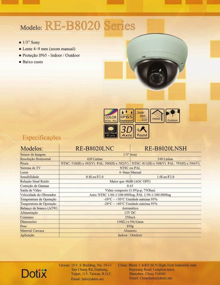 Câmera RE8020LNC - LNSH Dotix