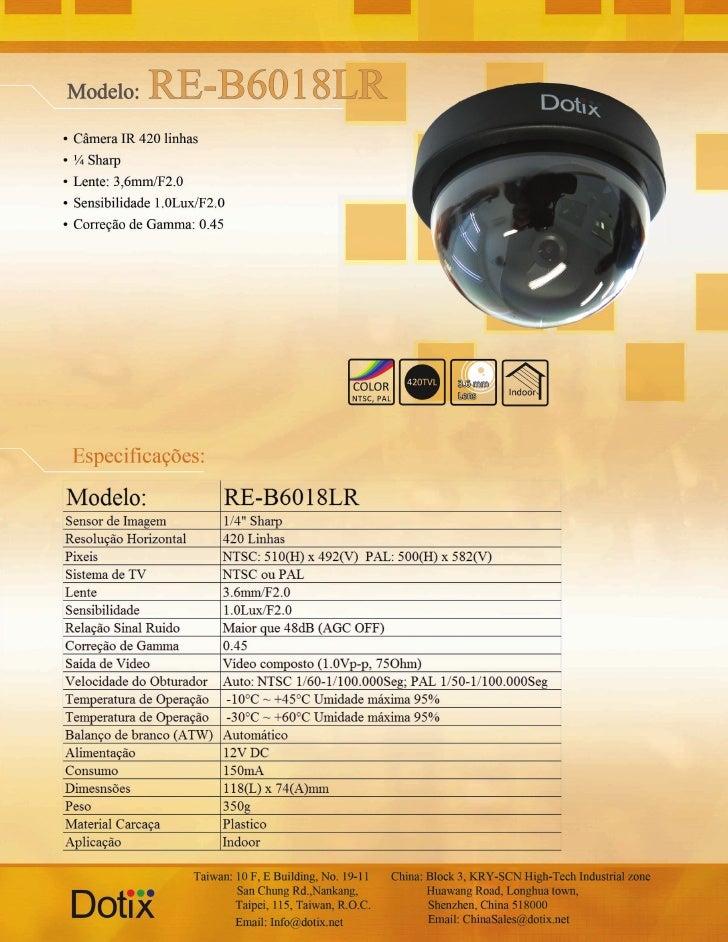 Câmera RE-B6018LR Dotix
