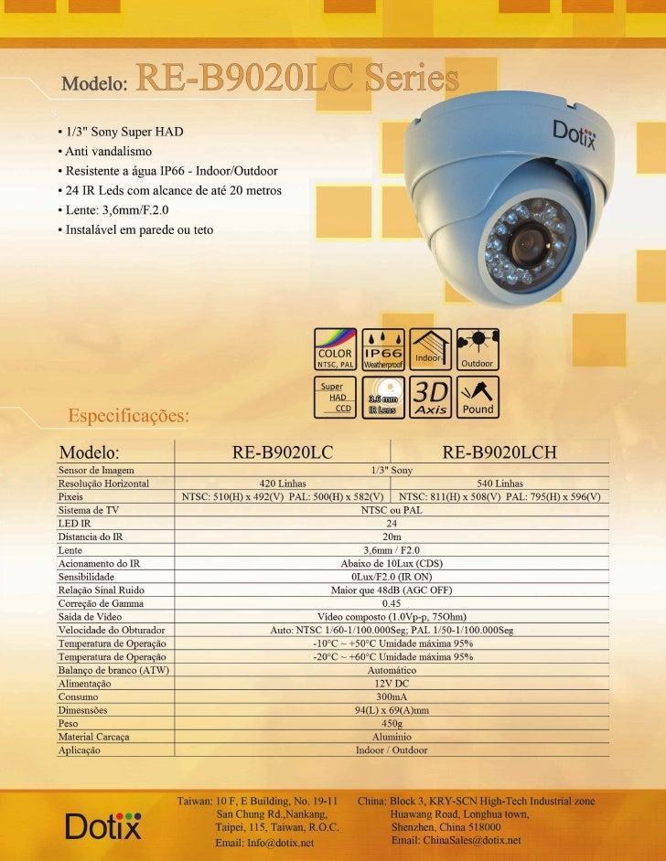 Câmera RE-B9020 LC - LCH Dotix