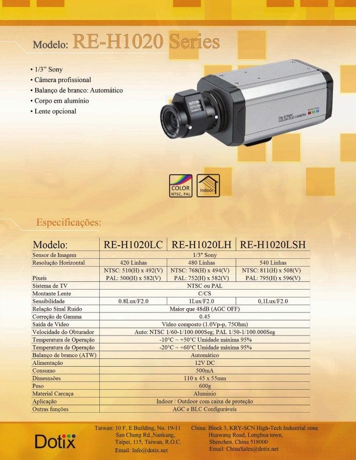 Câmera RE-H1020 L - LH - LSH Dotix