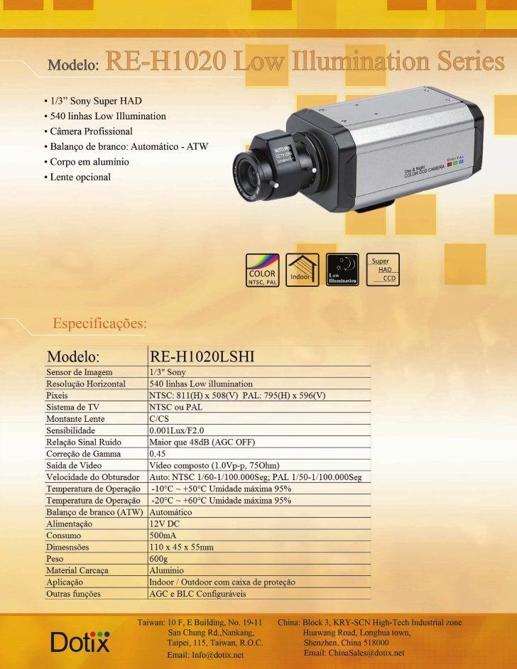 Câmera IR RE-H1020L - LHSHI Dotix