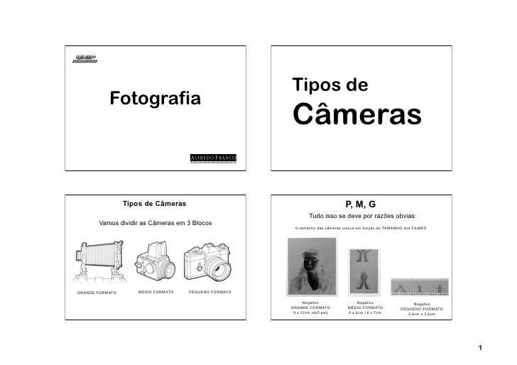 Tipos de           Fotografia                                                      Câmeras                 Tipos de Câmera...