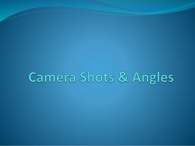  On this presentation I will be outlining the variety of camera shots and angles we will be using in our thriller opening...