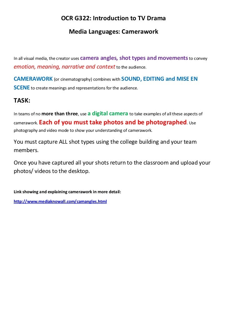 AS Media Photography and Camerawork booklet