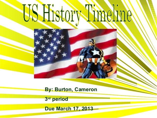 Cameron burton timline us history h
