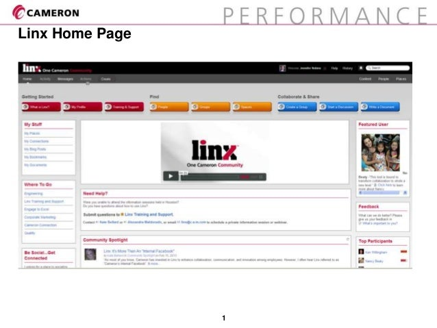 1Linx Home Page
