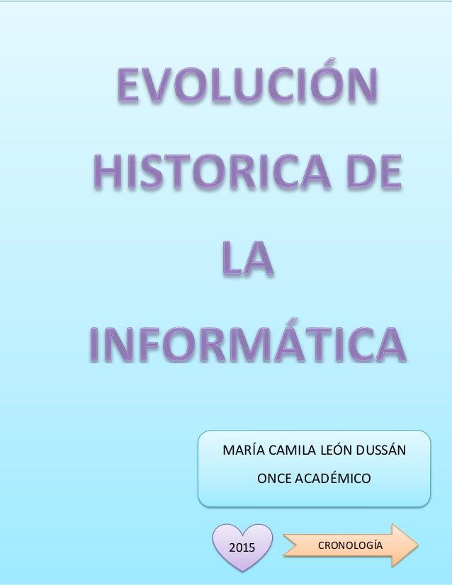 MARÍA CAMILA LEÓN DUSSÁN ONCE ACADÉMICO CRONOLOGÍA2015