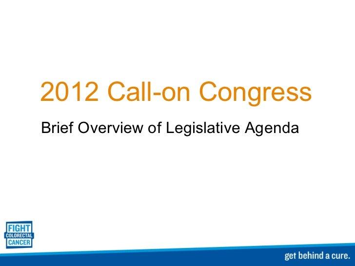 Camile Bonta Call-on Congress 2012 9.30am Presentation