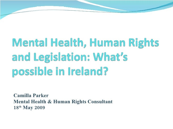 Camilla Parker A Legislative Approach To Embedding Rights Whats Possible In Ireland