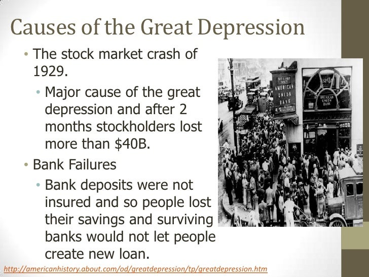 the cause of the great depression essay This essay will examine the causes of the great depression, and its effects on usa perhaps the events that most clearly associated with the great depression were the wall street crashes on october 24th and 29th, 1929.