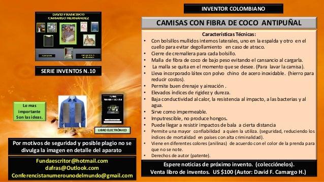 Camisas en fibra de coco antipuñal