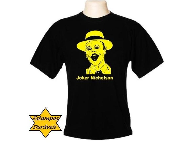 Camiseta coringa, curtindo a vida adoidado, r$ 29,90