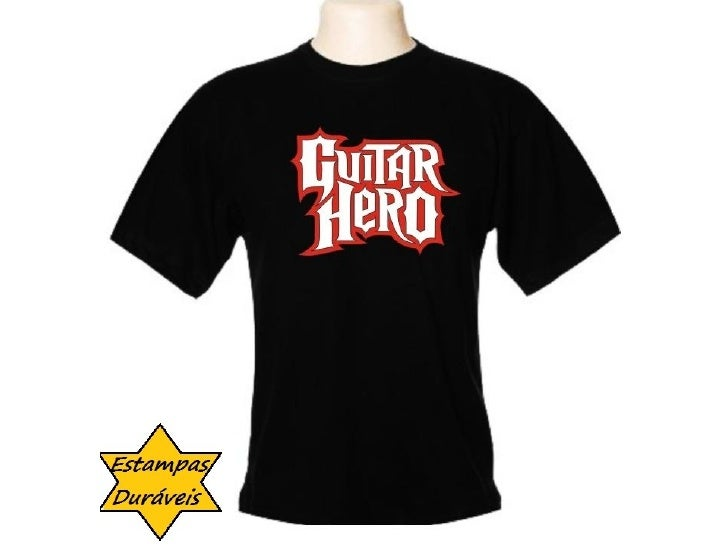 Camiseta guitar hero, camiseta hell boy, r$ 29,90