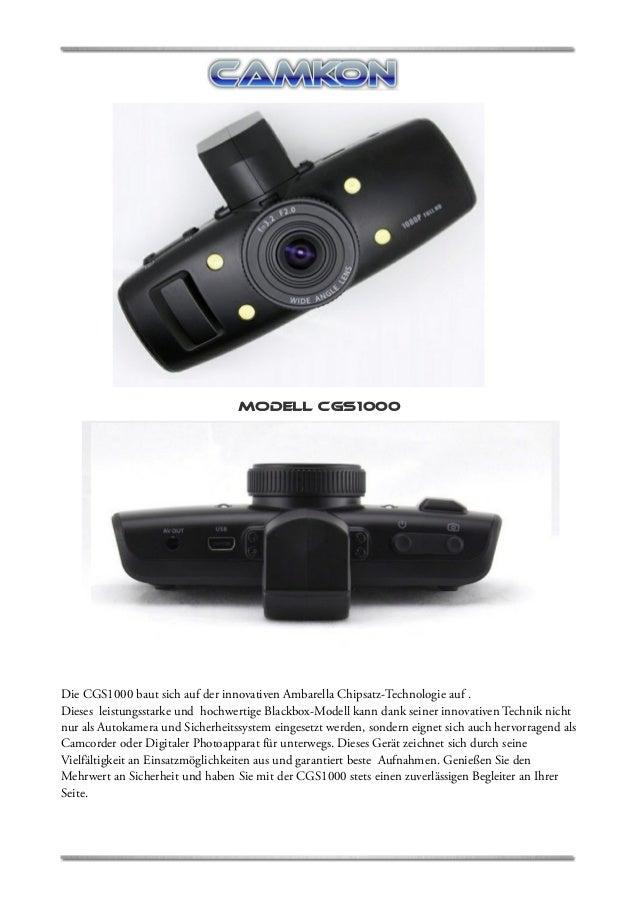 CAMKON C-GS1000 Bedienungsanleistung FULL HD Gps Blackbox Autokamera Dashcam Carcam