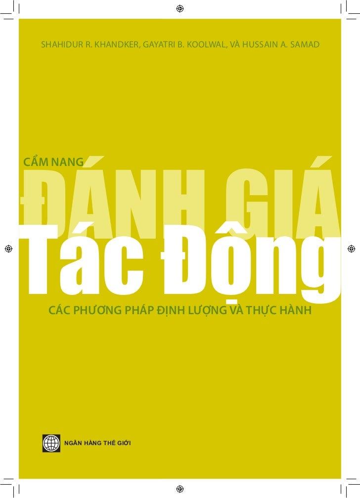 Cam nang danh gia tac dong